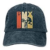Kling Baseball Mütze für Männer und Frauen, BMX Silhouette Snapback Cotton im Retro Stil der 1970er Jahre