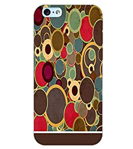 PrintDhaba CIRCLE PATTERN D-6376 Back Case Cover for APPLE IPHONE 6 PLUS (Multi-Coloured)