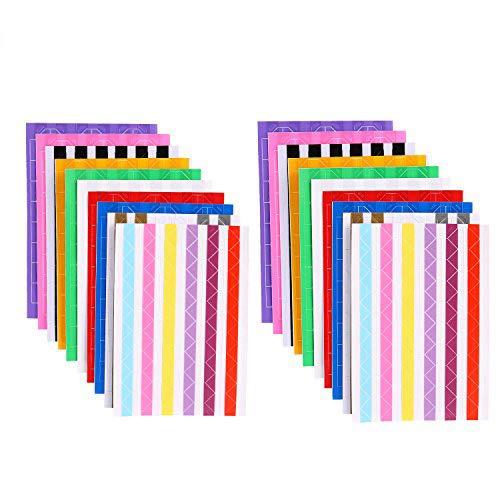 afufu Foto Ecken selbstklebend 20Blatt Bild Ecken für Heimwerker Album, Scrapbook, persönliche Tagebuch, milchfrei, (Multicolor)