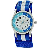 Reflex Time Teacher Blue & White Velcro Strap Boys Girls Children Watch REFK0001
