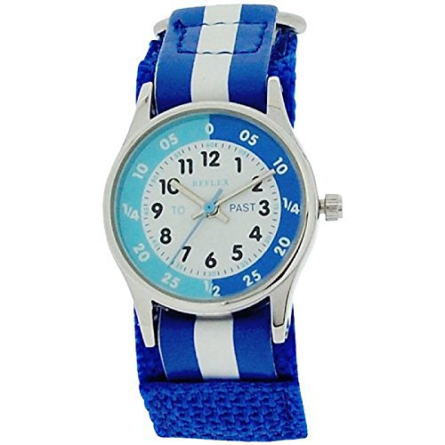 Reflex-Time-Teacher-Blue-White-Velcro-Strap-Boys-Girls-Children-Watch-REFK0001