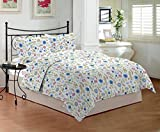 Bombay Dyeing 120 TC Cotton Double Bedsheet with 2 Pillow Covers - Blue