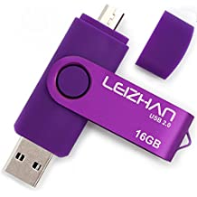 LEIZHAN Purple OTG USB Flash Drive 18GB Memory Stick USB Key smartphone Pen Drive For Computer and Android Phone Good quality…