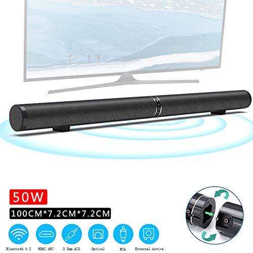 Speaker-EJOYDUTY 40-Zoll-Bluetooth-Surround-Heimkinosystem, 2019, aktualisierte Version, wandmontierbare Soundbar mit 50 W, 6 Lautsprechern, Fernbedienung