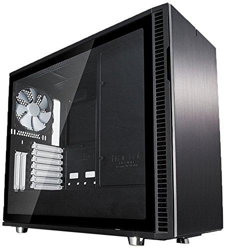 Fractal Design Define R6 Black Tempered Glass, PC Gehäuse (Midi Tower mit Seitenteil aus gehärtetem Glas) Case Modding für (High End) Gaming PC, schwarz Aus Gehärtetem Glas