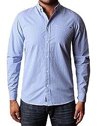 Mens Shirt Tokyo Laundry manches complète 100% coton vichy à carreaux REQUIEM