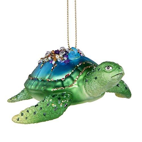 Goodwill Meer Schildkröte Hand Blown American Mottoparty Pailletten-Glas Ball Deko 9,5Zentimeter
