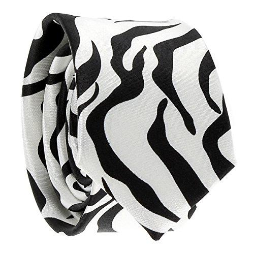 Schmale Krawatte Zebra