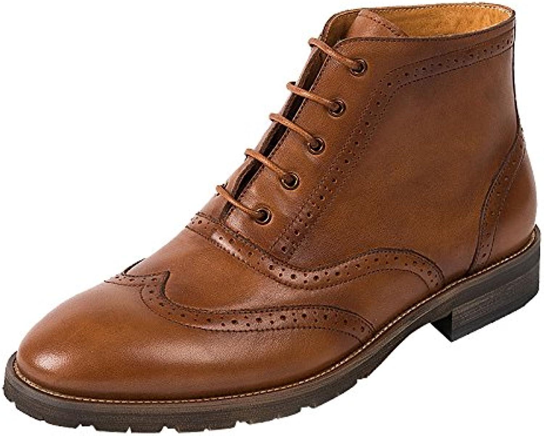 LYZGF Zapatos De Cuero De Encaje Retro Ocasionales De Gentleman De Los Hombres
