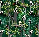 Blend Panda Stoffe, Bambusfresser, 0,5 m, 100% Baumwolle
