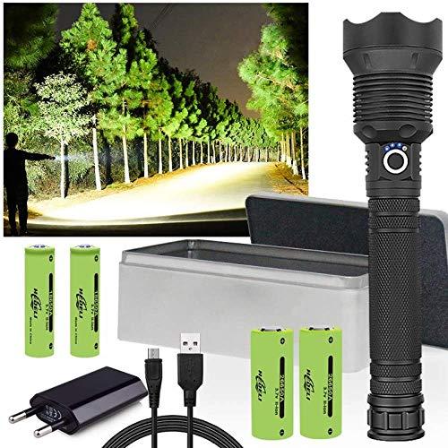 Jagd 100000lm XHP70.2 Das Meiste Leistungsfähige Geführte Taschenlampen-USB-Fackel-Hauptlampen-Xhp70 Xhp50 26650 Oder 18650 Wieder Aufladbares Blitzlicht