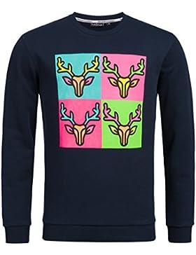 Tracht & Pracht - Herren 100% Baumwolle - Sweatshirt Pullover Shirt POP ART