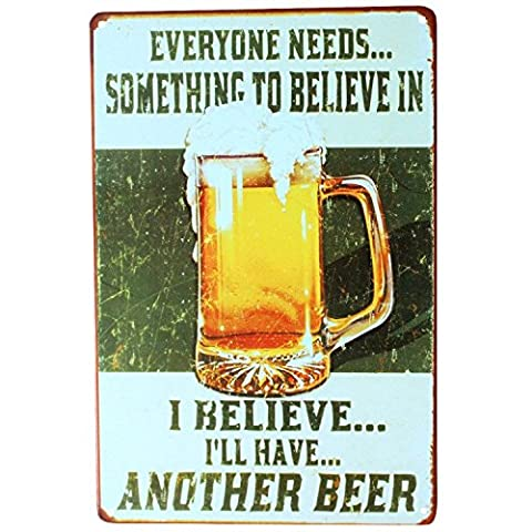 Vintage Retro KTV Pub Bar Beer Wine Drinking Advertising Metal Tin Sign Wall Plaques 20cm (Outdoor Metallo Wall Art)