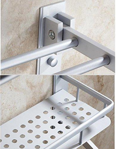 QUEEN'S Space Aluminum Shower Shelves Toilets Towel Rack Towel Rack Multi-Function Three-Tier Storage Rack Pendant 50Cm 60