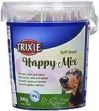Friandises Soft Snack Happy Mix, 500 g - TRIXIE, Soft Snack Happy Mix - Friandises au goût de poulet, agneau et saumon pour chiens - Sans sucres ajoutés - Poids : 500g.