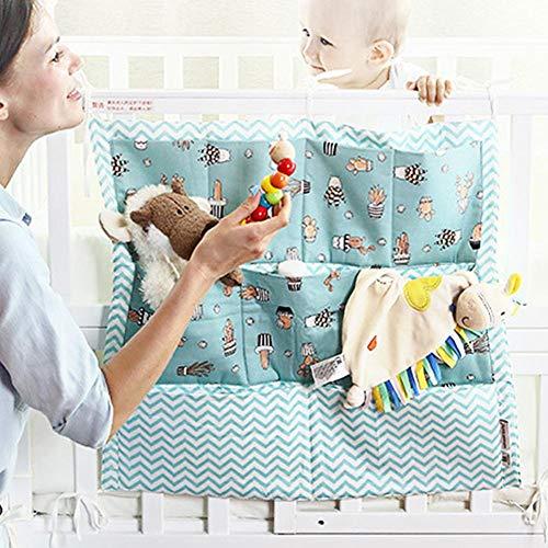 Haning Windel Caddies Organizer für Kinderbett - Baby Windel Caddy & Nursery Organizer mit 9 Taschen für Wickeltisch, Baby Produkte Aufbewahrungstasche Dusche Geschenk für Neugeborene (Hängende Dusche Caddies)