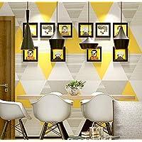 Papel pintado geométrico moderno rollo colorido triángulo gráfico vinilo Papel tapiz nórdico salón decoración 10 * 0.53m