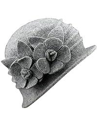 TININNA Inverno Caldo Elegante Cappello di Lana Pura Bombetta Berretto  Classici per Le Signora Donne f1e1ace6817c