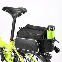 Bolsa de transporte Milkiray para bicicleta, para asiento, cesta o parte trasera, Black 2