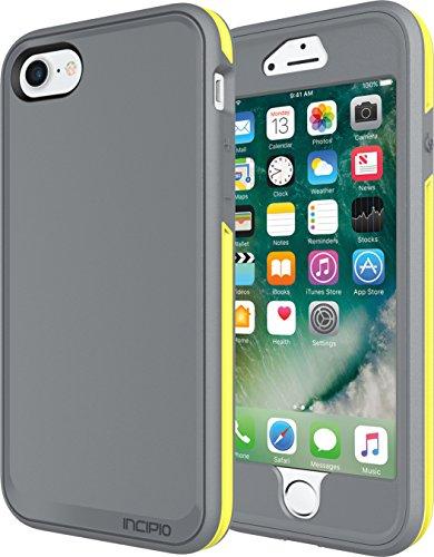 Incipio Performance Series Schutzhülle [Max] für Apple iPhone 7 in grau/gelb [Military Drop Tested | Holster mit Drehclip | Displayschutzfolie | Integrierter Schutzbumber] - IPH-1490-CGY grau/gelb