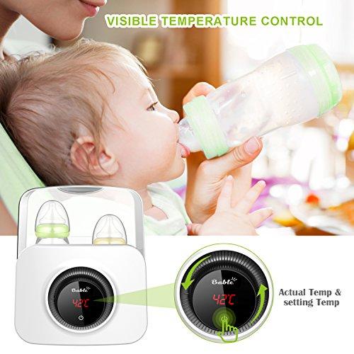Bable Flaschenwärmer丨Sterilisator für Babyflaschen丨Babykostwärmer丨Multifunktionale Baby Flaschenwärmer mit Ernährungsschutz-Technologie and LCD Bildschirm - 5