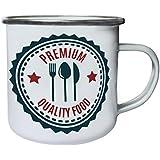 Nueva Calidad Premium De Alimentos Retro, lata, taza del esmalte 10oz/280ml m305e