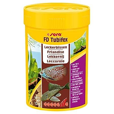 sera FD Tubifex Fischfutter tierisch – proteinreiches Kraftfutter fördert effektiv das Wachstum – durch ein besonders…