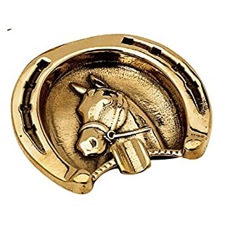 Ashtray in Polished Brass Horse