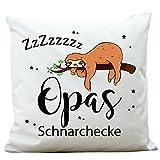 Wandtattoo-Loft Kissen Opas Schnarchecke mit schlafendem Faultier am AST 40