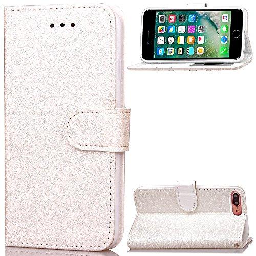 iPhone Case Cover PU-lederner Kasten-Mappen-Kasten mit Karte Bargeld-Schlitz-helle zeichnet Muster-Fall-Standplatz-Abdeckung für IPhone 7 Plus ( Color : Green , Size : IPhone 7 Plus ) White