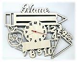 Geschenk zur Einschulung Lernuhr Uhr mit Namen personalisiert I Holz Kinder Geschenke Junge Mädchen