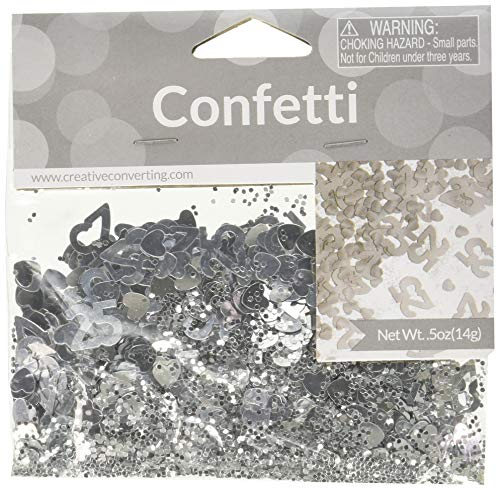 25th Anniversary Foil Confetti (Dekorationen Anniversary 25th)