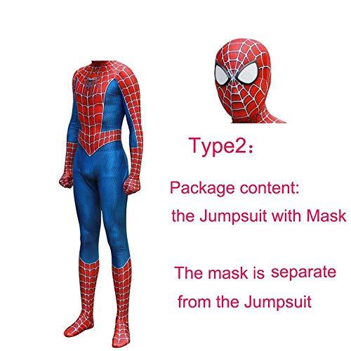 Spider Kostüm Offizieller Mann - HEROMEN Remitoni Spider Kostüm Halloween Cosplay Strumpfhose Kleidung 3D Print Ganzkörper Für Mann Erwachsene Kinder,B-childM