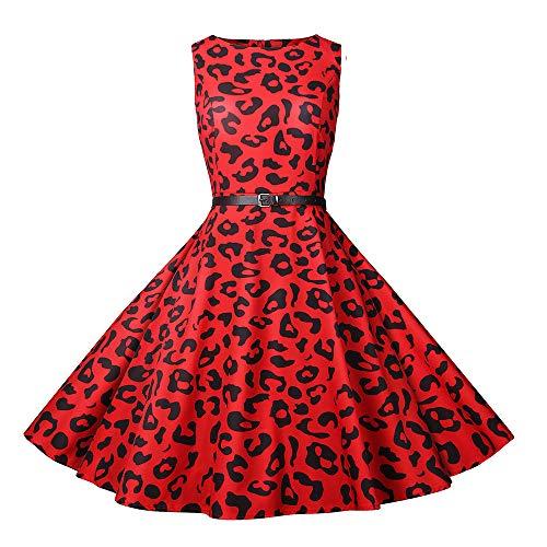 Kleid Elegant Damen MYMYG 1950er Vintage Retro Brautjungfernkleid Petticoat Ballkleid Hepburn...