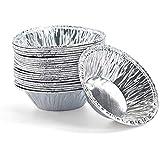 sadqwdf 250 Unids Desechables Huevo Tarta Titular Molde Papel de Aluminio Pastel de Galletas Cocina Herramienta de Hornear