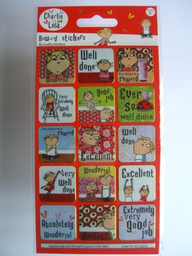Charlie & Lola - Reward Sticker Pack (Stickers Only) Reusable {Sticker Style} by Charlie & Lola Lola Pack