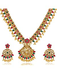 bcd274bb0 Shining Diva Fashion Latest Traditional Design Necklace Set for Women Gold  Plated Jewellery Set for Women