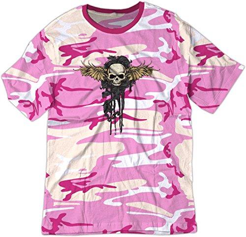 BSW  Herren T-Shirt Gr. X-Small, Pink Camo (Crest Pink Womens T-shirt)