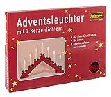 Idena 8582030 - Adventsbogen mit 7 Kerzenlichtern, ca. 30 x 40 cm, rot