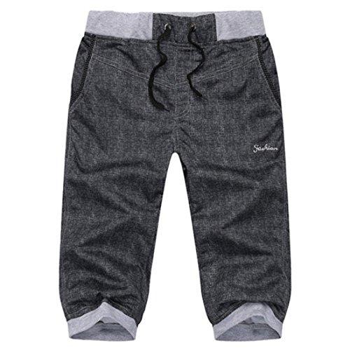 Men's Fashion Summer Capri Shorts Black