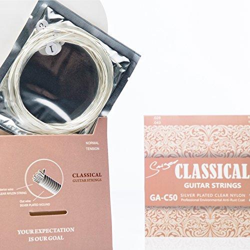 Set di 6corde in nylon per chitarra da concerto, acustica, classica, argentate, suono meraviglioso, alta qualità