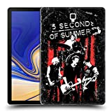 Head Case Designs Offizielle 5 Seconds of Summer Live Rot Gruppenbild Montage Ruckseite Hülle für Samsung Galaxy Tab S4 10.5 (2018)