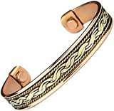 #5: Men Women Magnetic Therapy Pure Copper Bracelet Arthritis Anti Inflamattory Healing Cuff Golf Bangle Mcb14