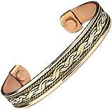 #4: Men Women Magnetic Therapy Pure Copper Bracelet Arthritis Anti Inflamattory Healing Cuff Golf Bangle Mcb14