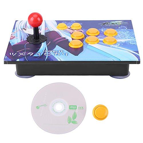 Pannello Arcade Gioco videogiochi Controllo, PC Arcade Giochi Tasti USB Stick Controllo Universale, Zero Delay 8 Indicazioni Joystick Controllo Device per PC Win7 / Win8 / Win10