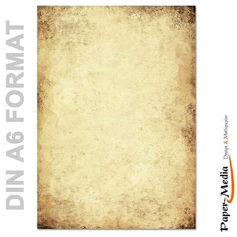 Papier à motif à lettres VIEUX PAPIER DIN A6 format
