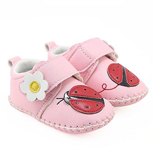 e Stiefel Lauflernschuhe Krabbelschuhe Babyhausschuhe mit Tier Junge Mädchen Kleinkind 0-6 Monate 6-12 Monate 12-18 Monate (Rosa, 6 ~ 12 Monate) (Mädchen Stiefel Größe 3)