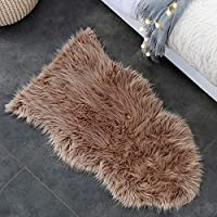 iCasso Faux Sheepskin Rugs Soft Fluffy Hairy Large Carpet Cover Non Slip Mats for Chair Bed Sofa Floor with Extra Long Wool, 60 * 100 CM ...