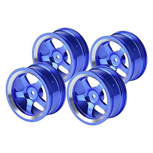 Mozzi Ruota RC, 4 pezzi 1:10 Pneumatici Mozzi Lega di Alluminio RC Accessorio per Auto Drift Auto da Corsa(Blu scuro)