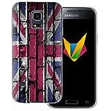 dessana England transparente Silikon TPU Schutzhülle 0,7mm dünne Handy Soft Case für Samsung Galaxy S5 mini England Flagge